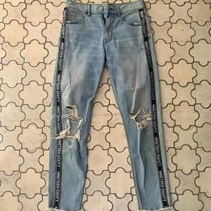 Express Vintage Skinny Jeans with Lettering 1980 0